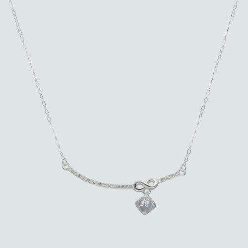 Collar Infinito Circones Cristal Hecho con Swarovski® Tornasol