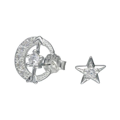 Aro Desigual Media Luna Flecha y Estrellas con Circones