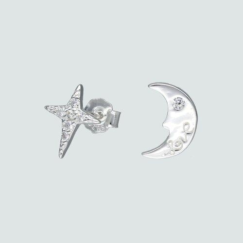 Aro Desigual Media Luna y Estrella Fugaz con Circones
