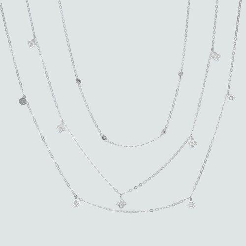 Collar Triple Flores y Circones