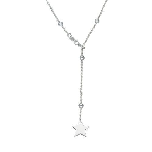 Collar Cascada Ajustable Turbillon con Esferas y Estrella