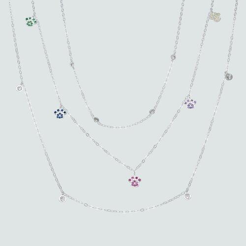 Collar Patitas con Circones Multicolor