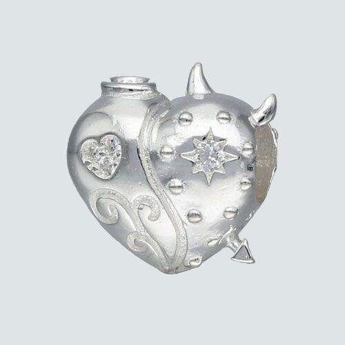 Colgante Charm Corazón Estrella con Circón