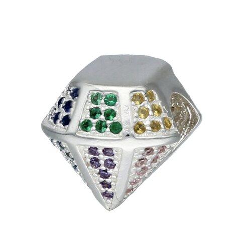 Colgante Charm Corte Diamante Circones Multicolor