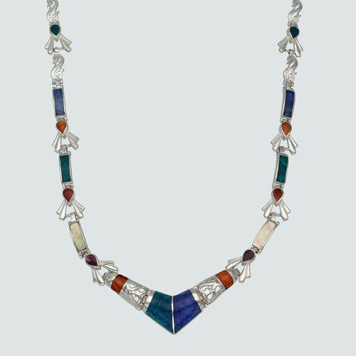 Collar Lapidado Piedras Naturales Multicolor