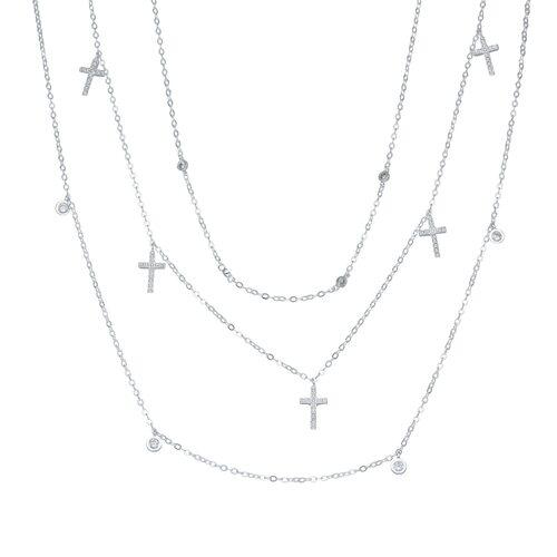 Collar Triple Cruces con Circones