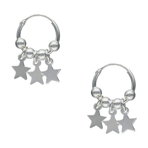 Aro Argolla Esferas y Estrellas 11 mm