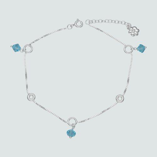 Tobillera Circulos Cristales Hecho con Swarovski® Celeste