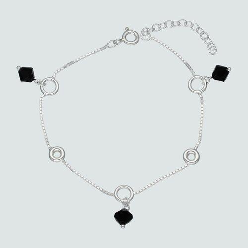 Pulsera Circulos Cristales Hecho con Swarovski® Negro