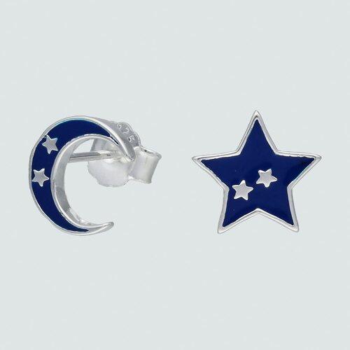 Aro Desigual Media Luna y Estrella Esmaltado