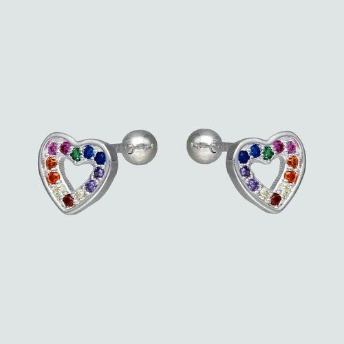 Aro con Tope Corazón Circones Multicolor