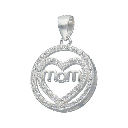Colgante Circulo Corazón Mom con Circones