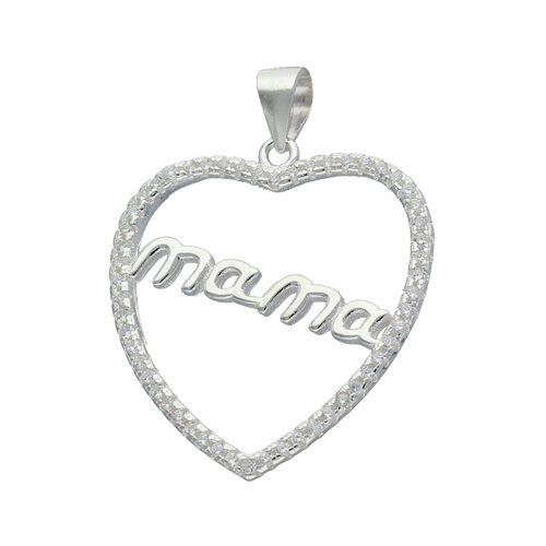 Colgante Corazón Mama con Circones