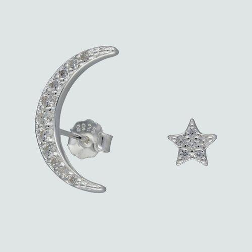 Aro Desigual Media Luna y Estrella con Circones