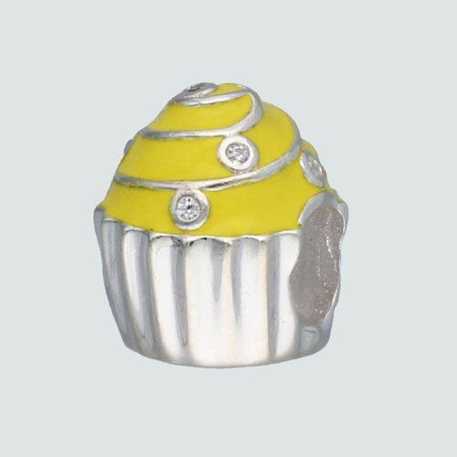 Colgante Charm Cupcake Esmaltado con Circones