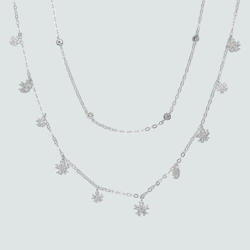 Collar Doble Flores con Circones