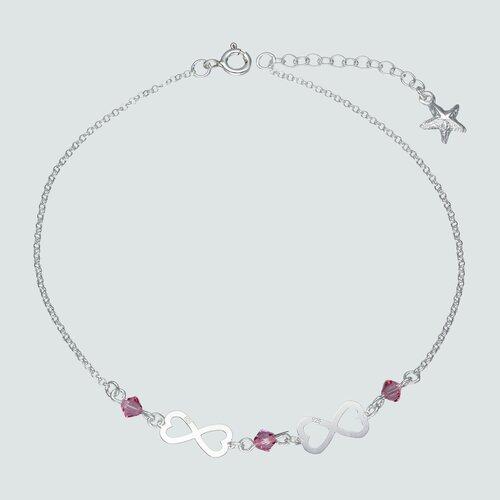 Tobillera Infinitos Estrella Cristal Hecho Swarovski® Rosado