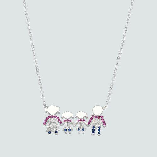Collar Familia Mamá Hija Hija Papá Circones Multicolor