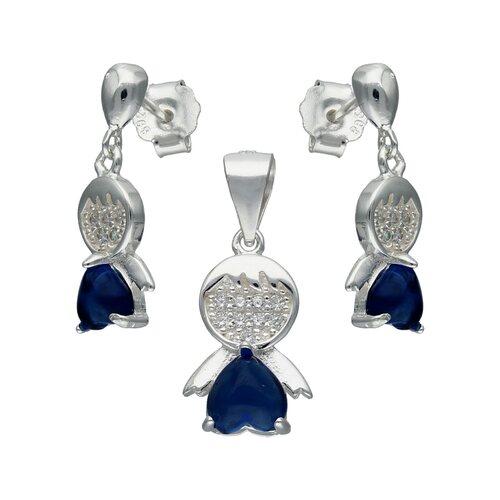 Conjunto Niño Hecho con Cristal Swarovski® Azul y Circones