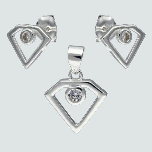 Conjunto Corte Diamante con Circón