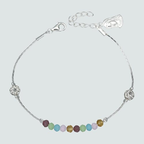 Pulsera Strass Cristales Multicolor Hecho con Swarovski®
