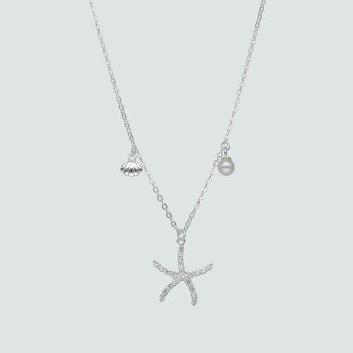 Collar Almeja Estrella de Mar Circones Perla