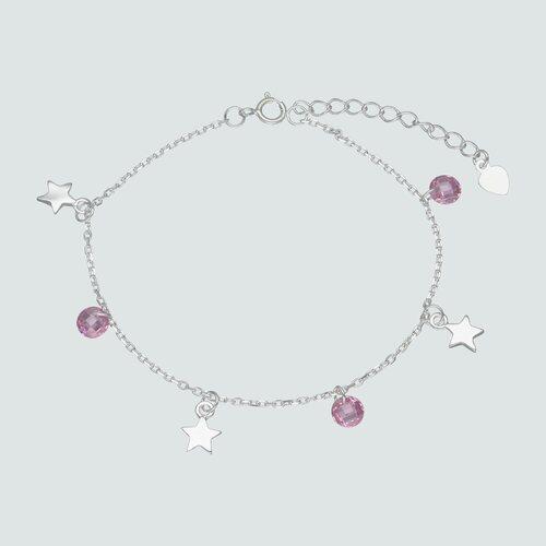 Pulsera Estrellas Cristales Hecho con Swarovski® Rosado
