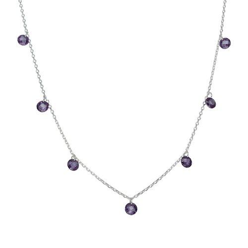 Collar Cristales Hecho con Swarovski® Morado