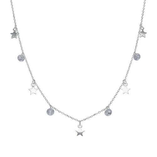 Collar Estrellas Cristales Hecho con Swarovski®