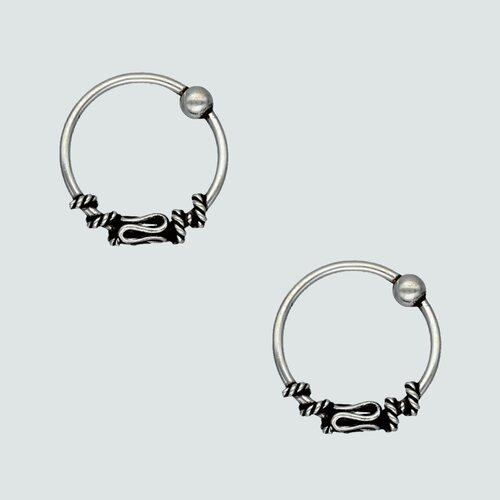 Aro Piercing Argolla Bali 10 mm