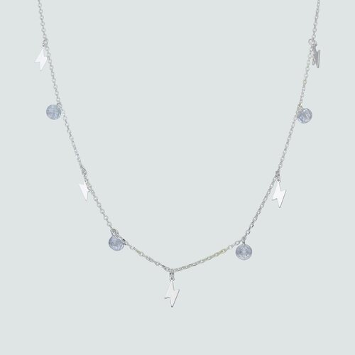 Collar Rayos y Cristales Hecho con Swarovski®