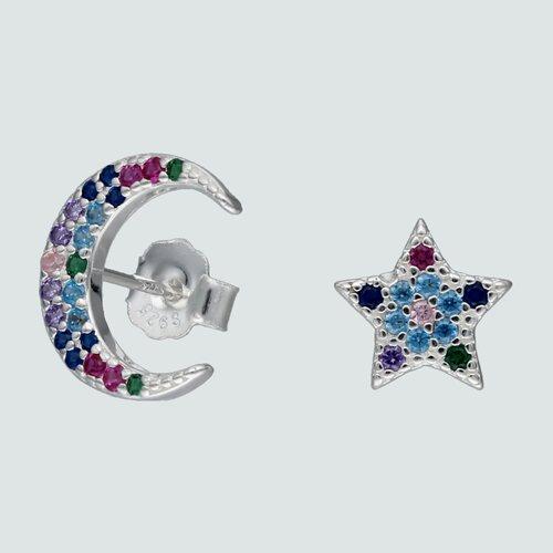 Aro Desigual Media Luna Estrella Circones Multicolor