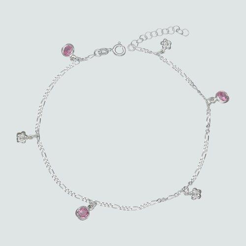 Tobillera Flores Circones Rosa Francia