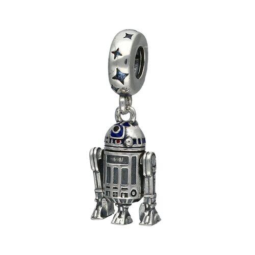 Colgante Charm Robot R2D2 Articulado Stars Wars