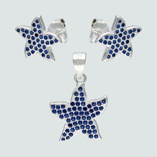 Conjunto Estrella de Mar Circones Zafiro