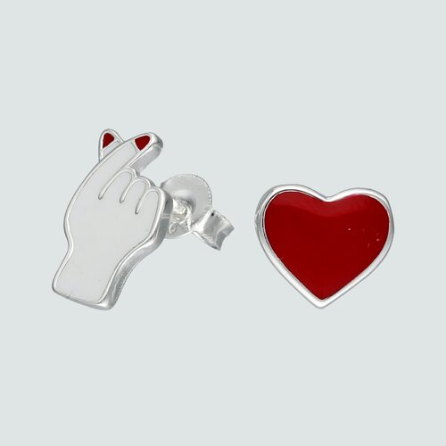 Aro Desigual Símbolo Amor Esmaltado
