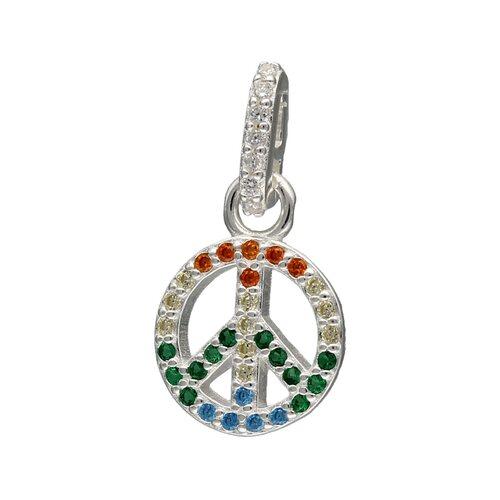 Colgante Símbolo Amor y Paz Circones Multicolor