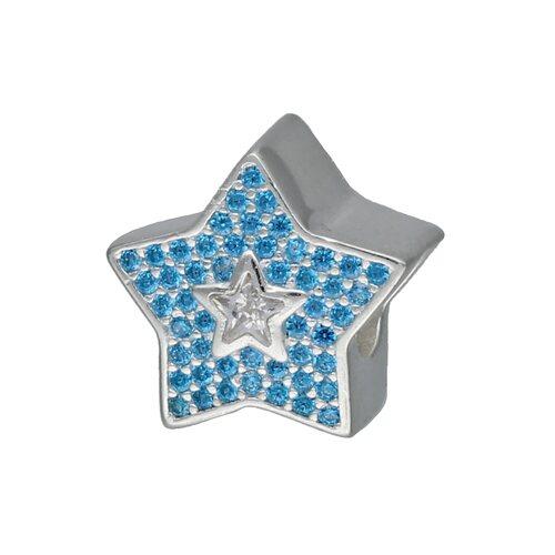 Colgante Charm Estrella Circones Agua Marina