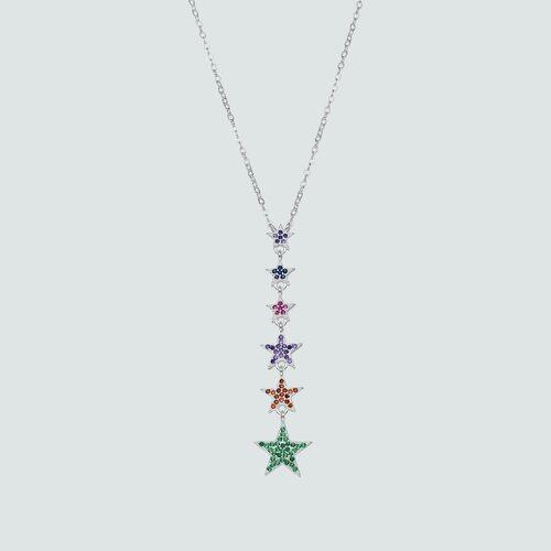 Collar Estrellas Circones Multicolor