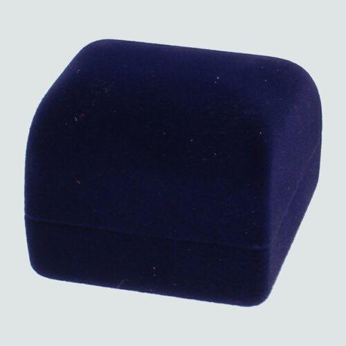 Cofre de Terciopelo para Anillo, Azul