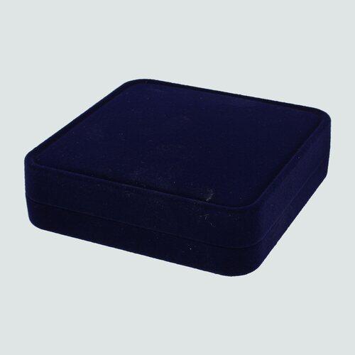 Cofre de Terciopelo para Collar y Aros, Azul