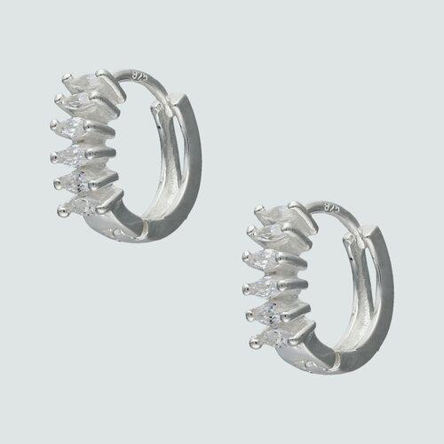 Argolla Huggie Circones Ovalados 13 mm