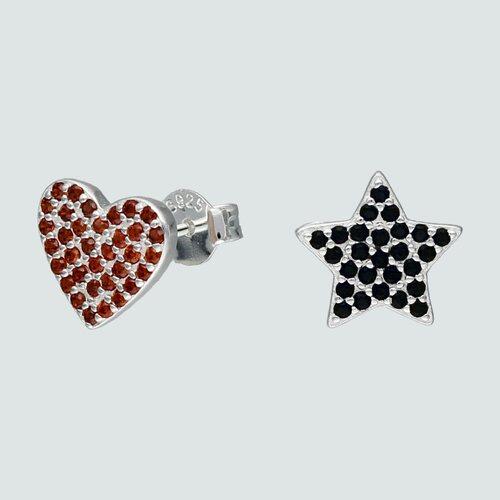 Aro Desigual Estrella y Corazón Circones