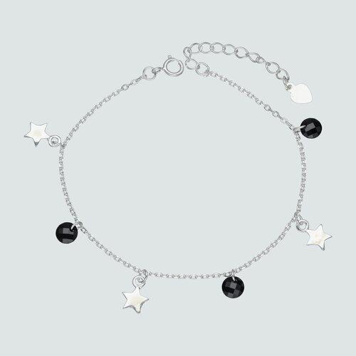 Pulsera Estrellas y Cristales Negros