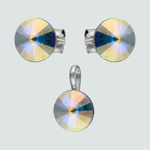 Conjunto Hecho con Cristal Swarovski® Tornasol 8 mm