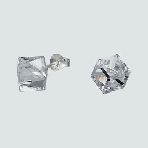 Aro Cubo Hecho con Cristal Swarovski® 6x6 mm