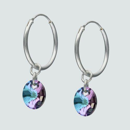 Argolla Ovalo Cristal Hecho con Swarovski® Tornasol 16 mm