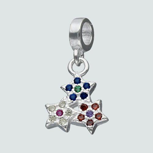 Colgante Mini Charm Estrellas Circones Multicolor