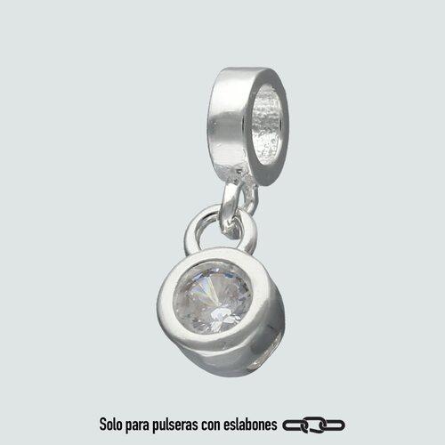 Colgante Mini Charm Circón 4 mm