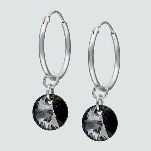 Argolla Cristal Hecho con Swarovski® Tornasol 16 mm